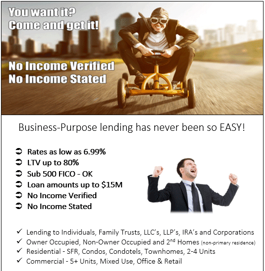 NO INCOME MORTGAGE LOANS